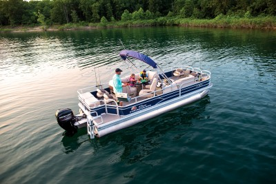 Sun Tracker Fishin Barge 22 DLX 2019 10