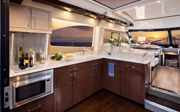 Carver C52 Coupe galley